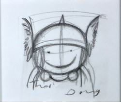 Dream Team! (Study V) by Doug Hyde -  sized 4x4 inches. Available from Whitewall Galleries